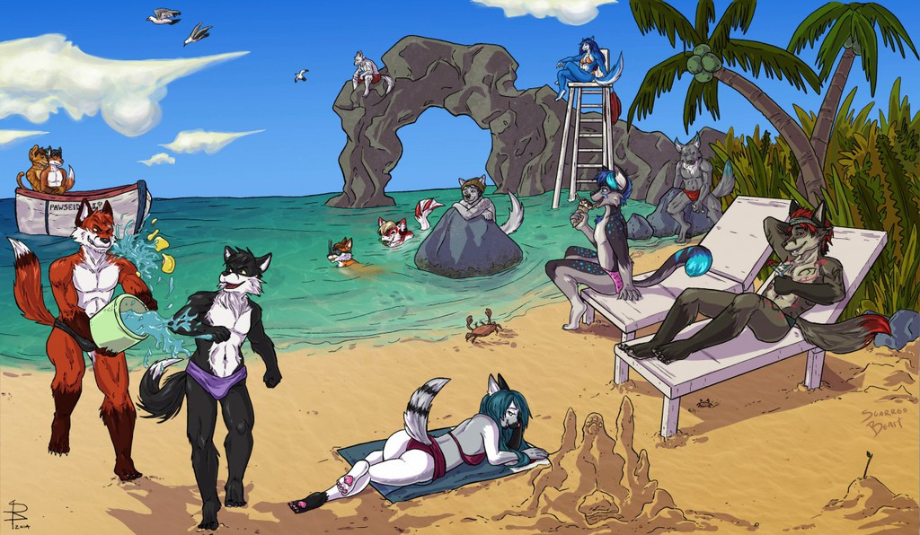Day at the Beach by Scarredbeast