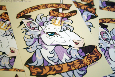 Glossy Art Print: Filigree Unicorn