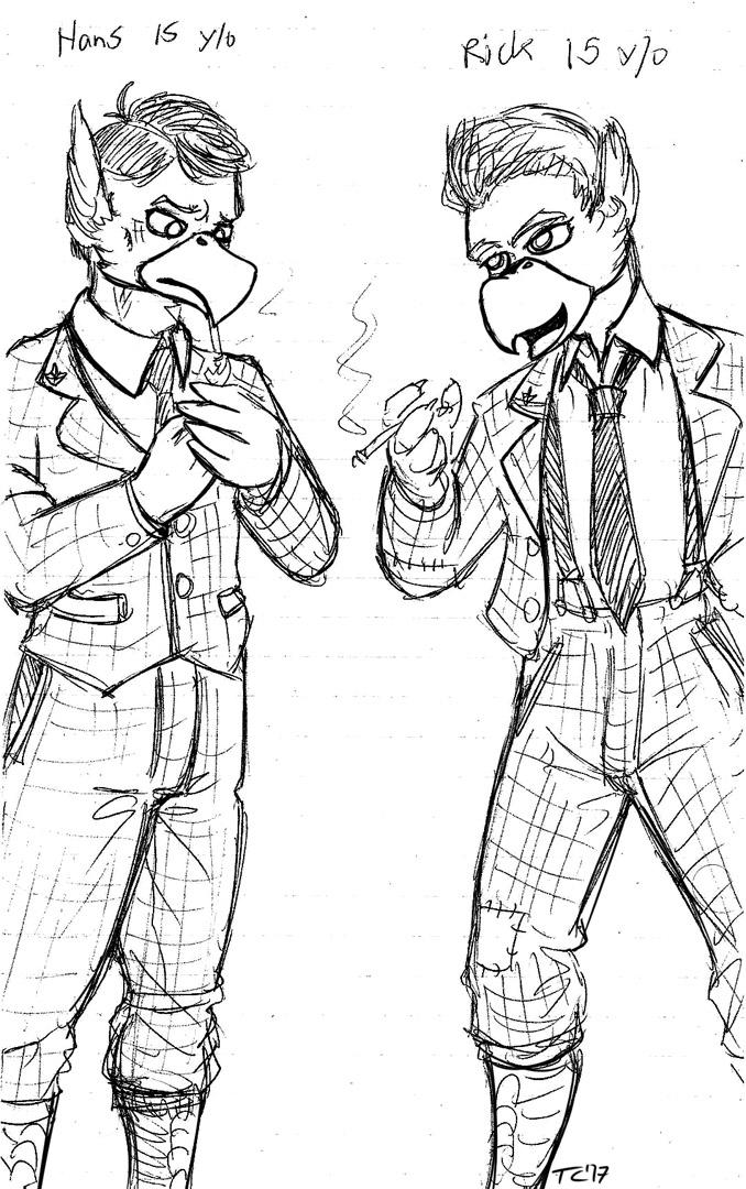 Teenage Hans and Rick