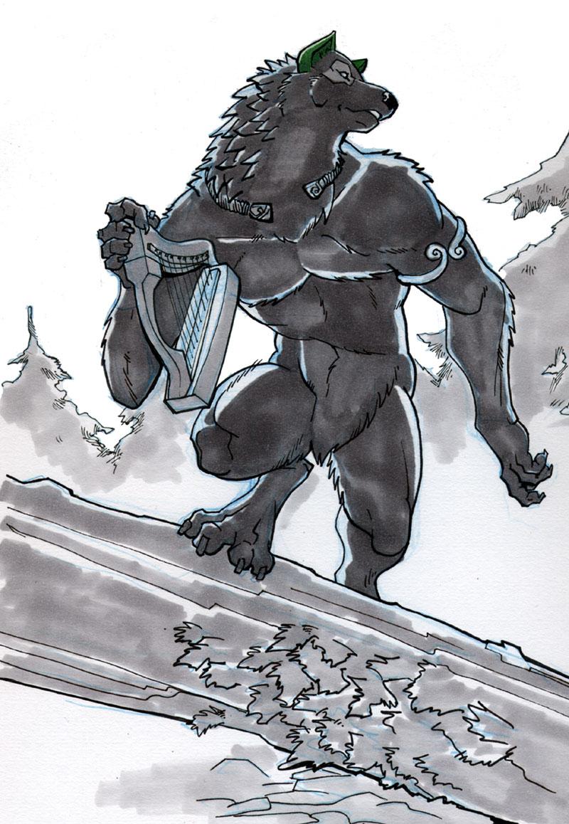 Draw a Werewolf St. Patrick's Day