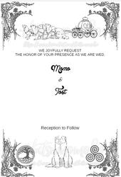 Wedding Invitations : Ferret Fairy Tail