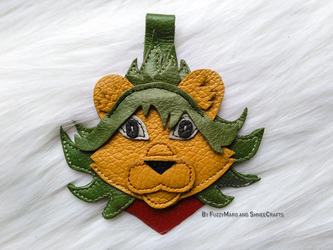 Lion-Leather pendant