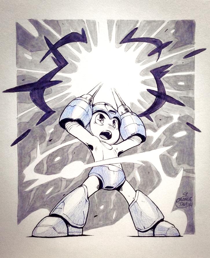 Inktober 01: Mega Man