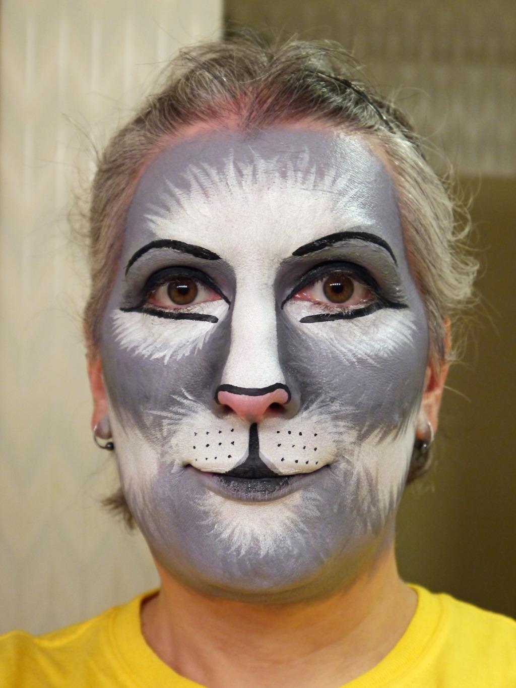 Gray Cat Makeup Practice #3
