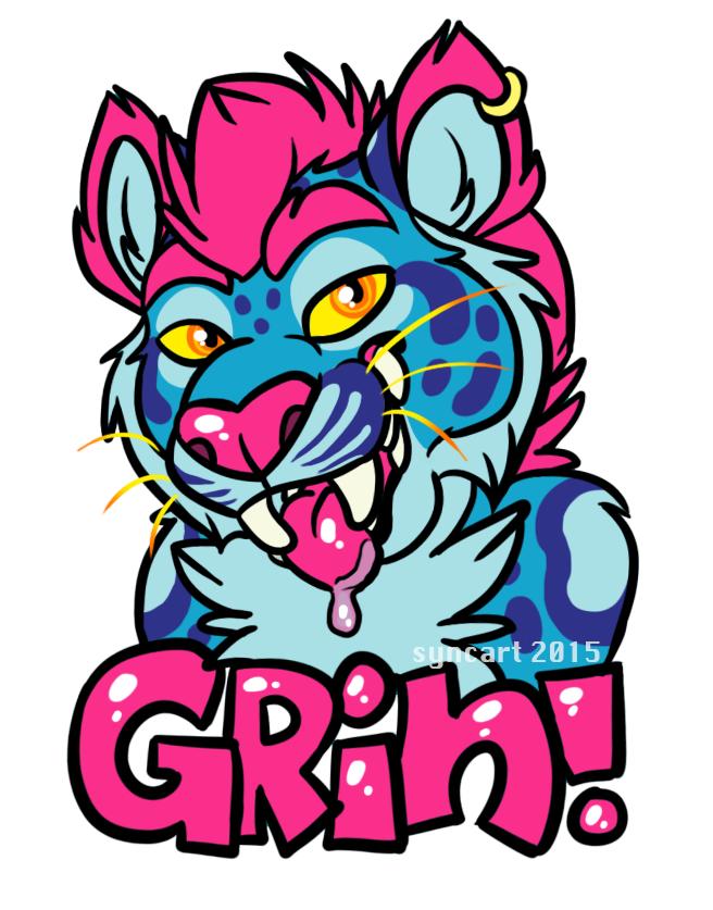 Grin Badge