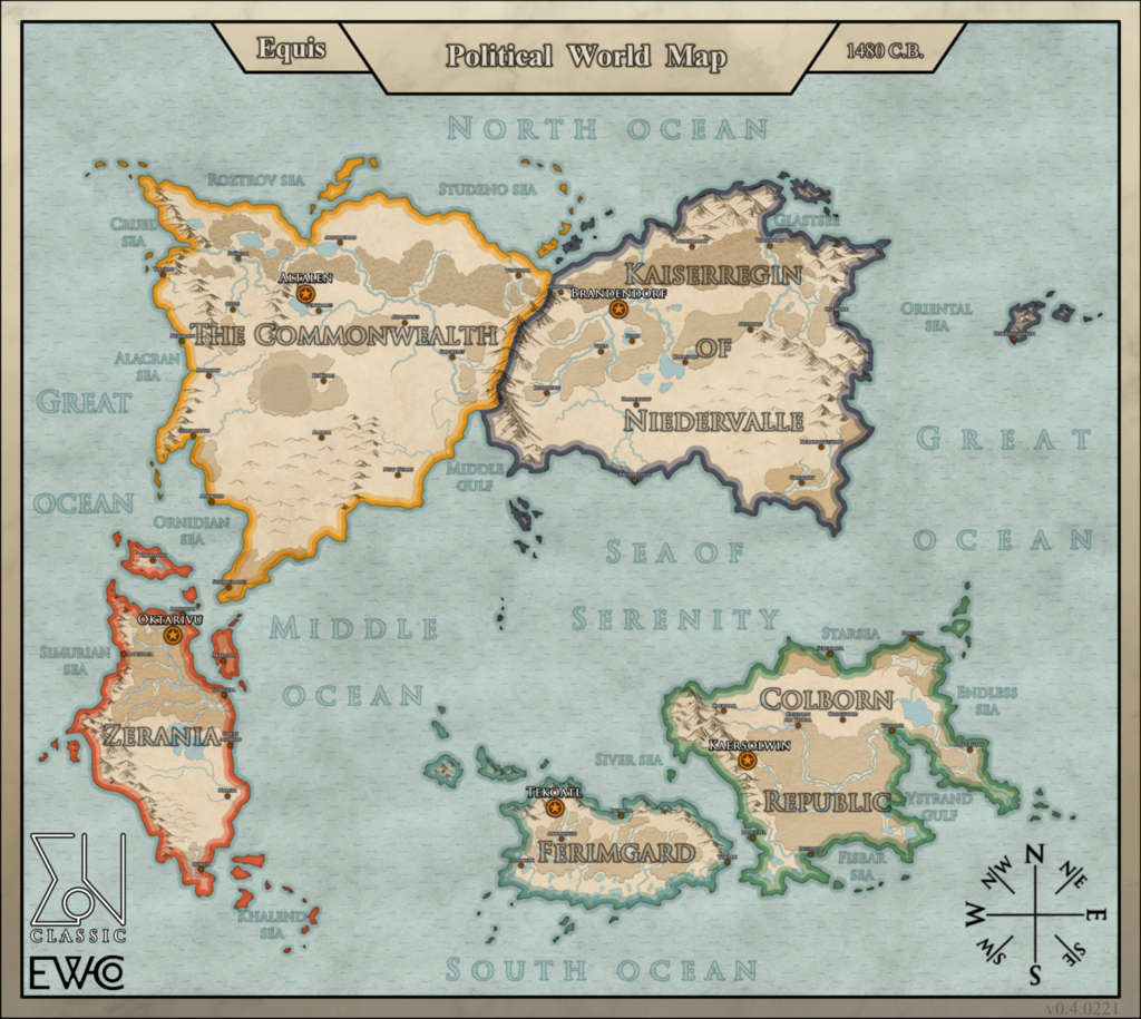 Equis. Political World Map