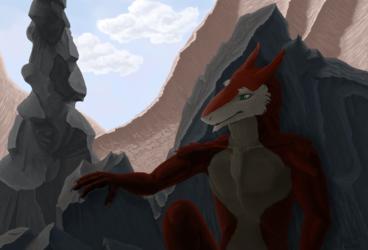 Sergal in a caven