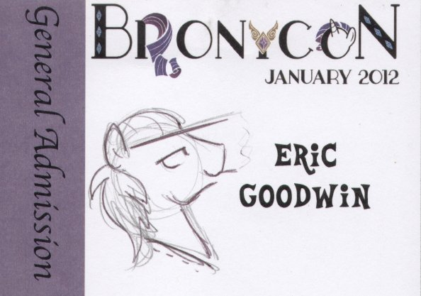 BronyCon January 2012 bade by Egophiliac