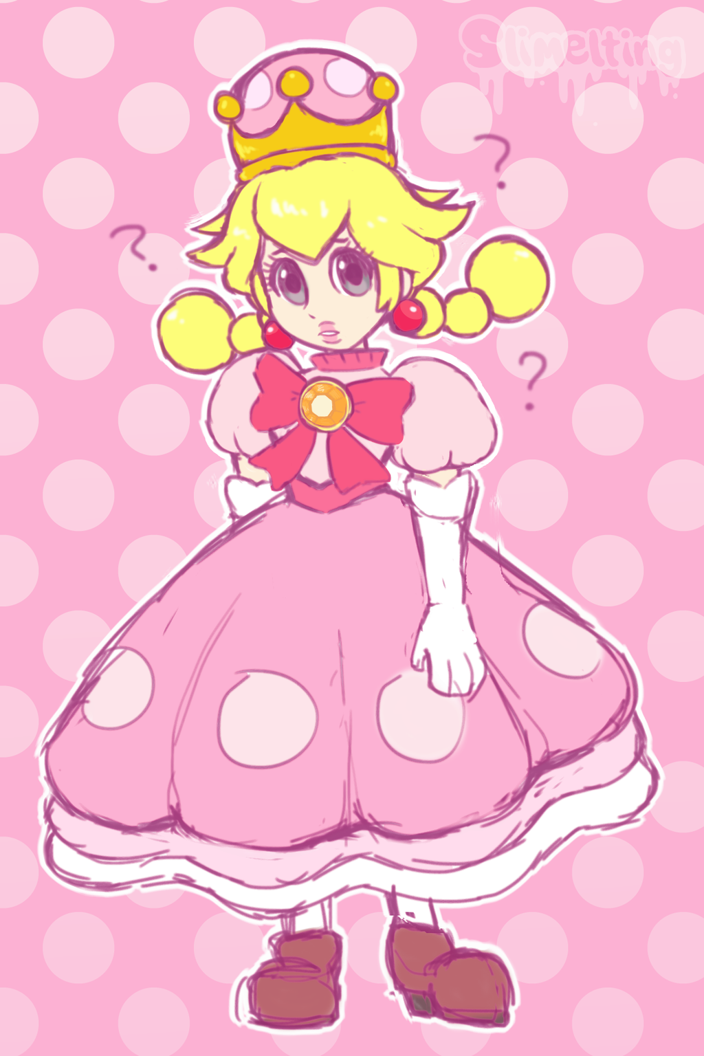 Most recent image: Peachette Sketch