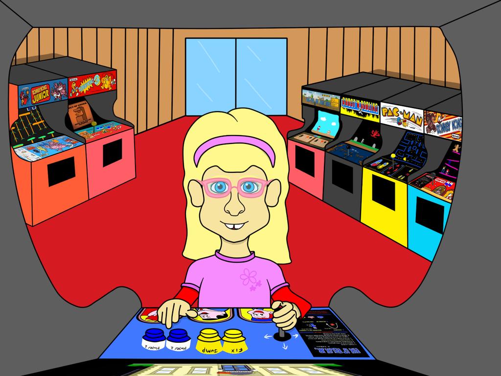 Moppet Girl Plays Fix it Felix Jr