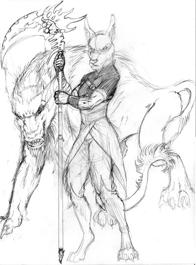 MFF17 - MrJakkal Commission - Sketch