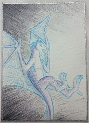 "Aceo card #2 ""light fight"""