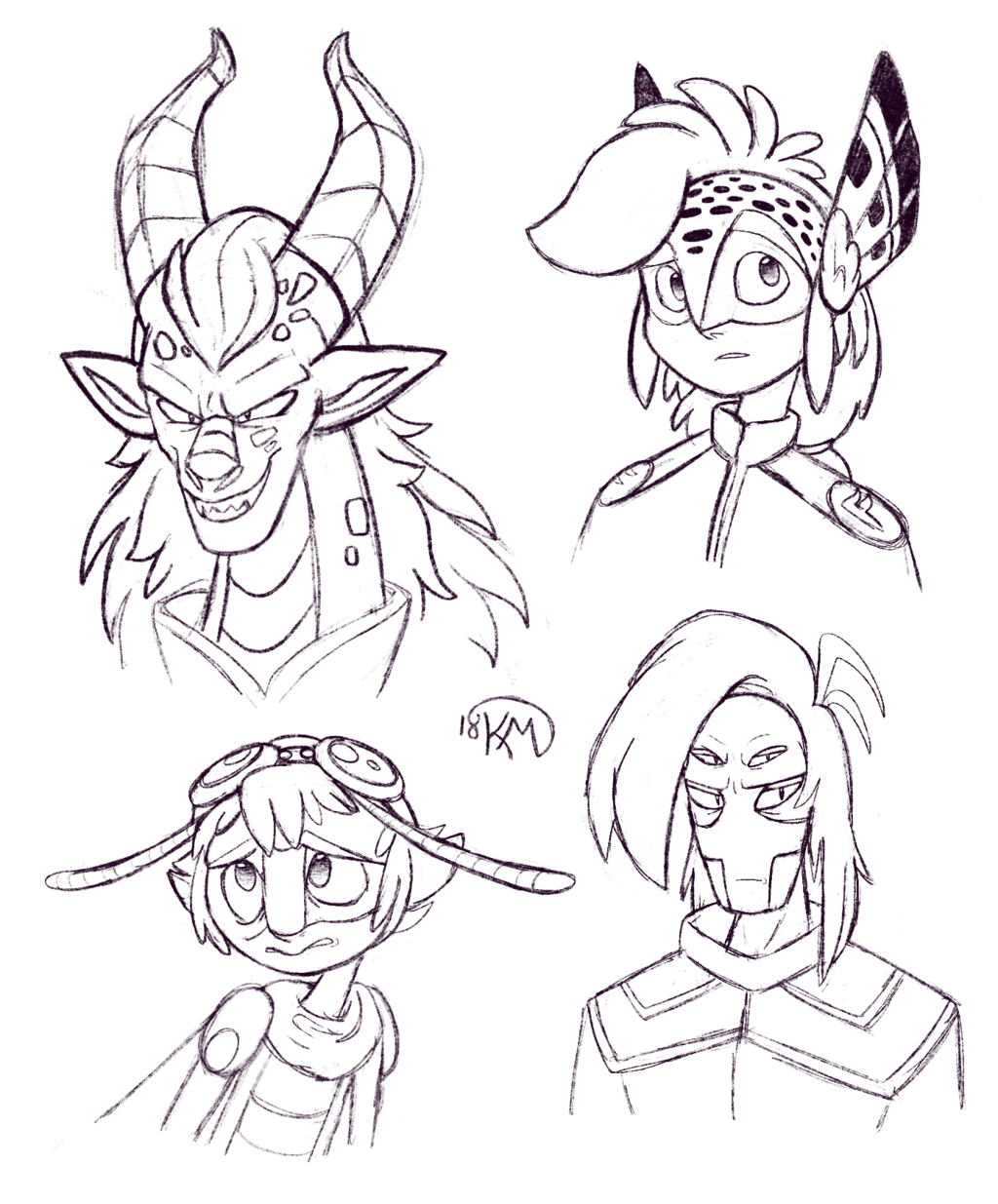 Feather Knights Doodles