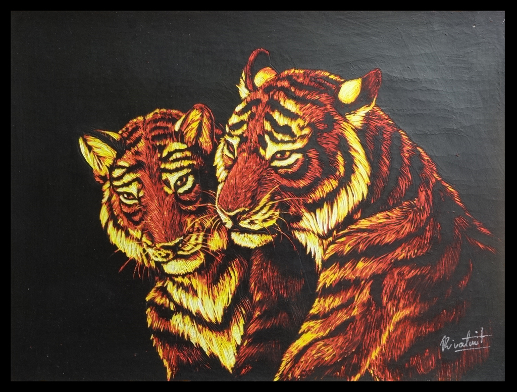 Tigers together