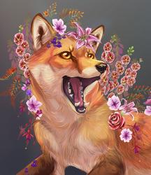 Flower Kitsune