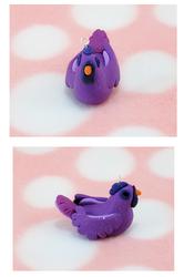 purple sparkly chicken