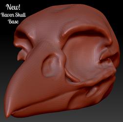 NEW! Raven Skull Head Base