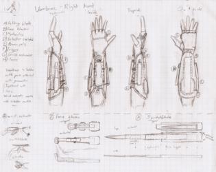 Vambrace weapon design 3