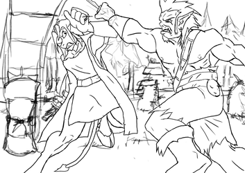 Thramis Fights - Sketch 2