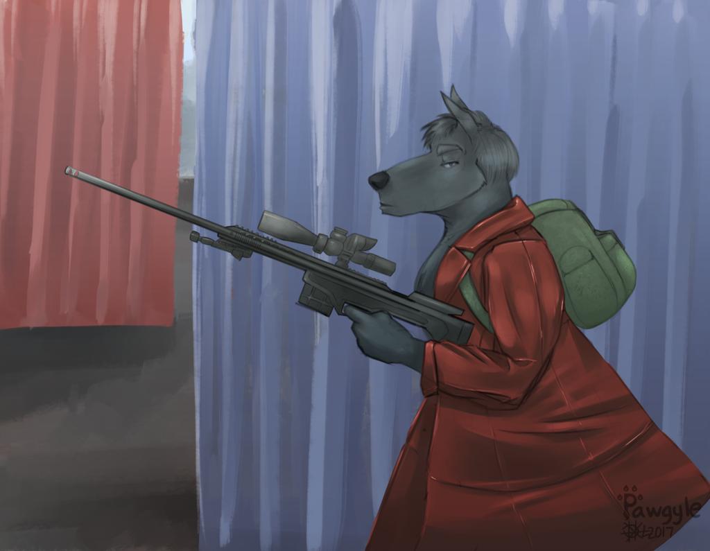 Last_grey_wolf fanart playerunknown's battleground