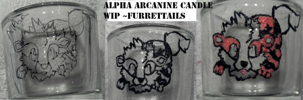 Alpha Arcanine Candle WIP