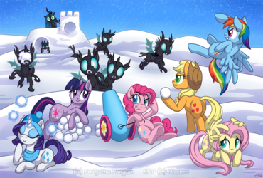 Mane Six vs The Changeling Army: Winter Edition