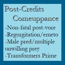 Post-Credits Comeuppance [Post-vore/Emeto Epilogue]