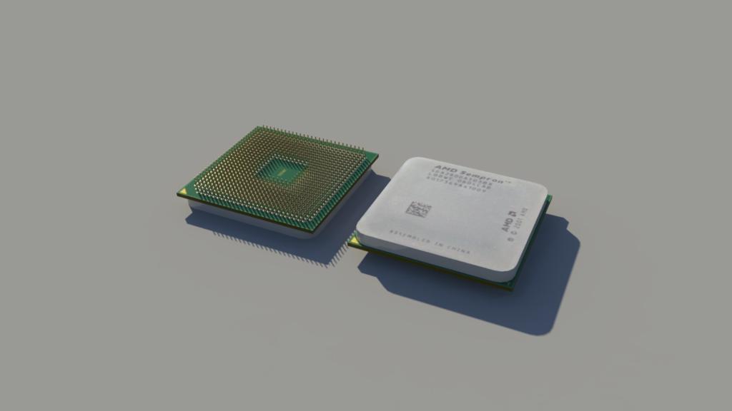 AMD Sempron Render