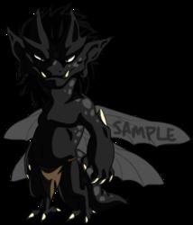 Sample Adoptable Imp - Black Spots Shadowed