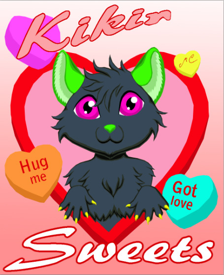 Kikir Conversation Hearts Badge