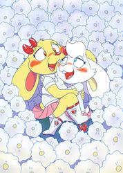 Flowery-flower girls (oy vey...)