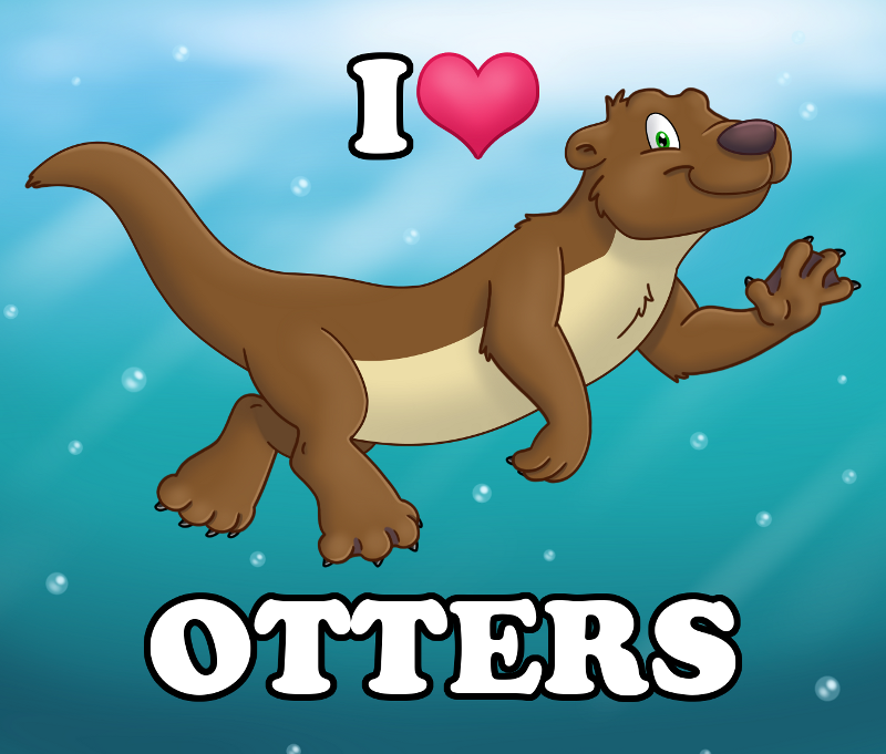 I Heart Otters Button