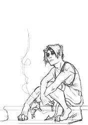 Stream Sketch - Smoking Demonboy