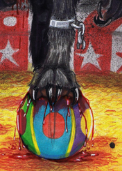 Finished book cover for The Circus Wolfman