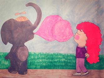 May the bigger bubble win!