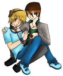 Joey and Kaiba