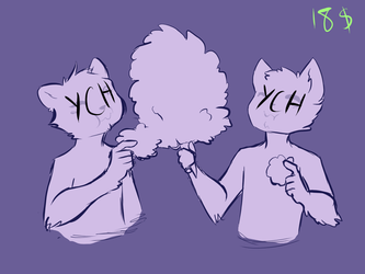 Cotton Candy YCH - Summer Mood