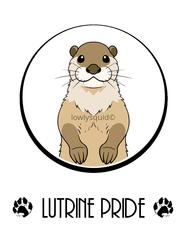 Lutrine Pride Badge