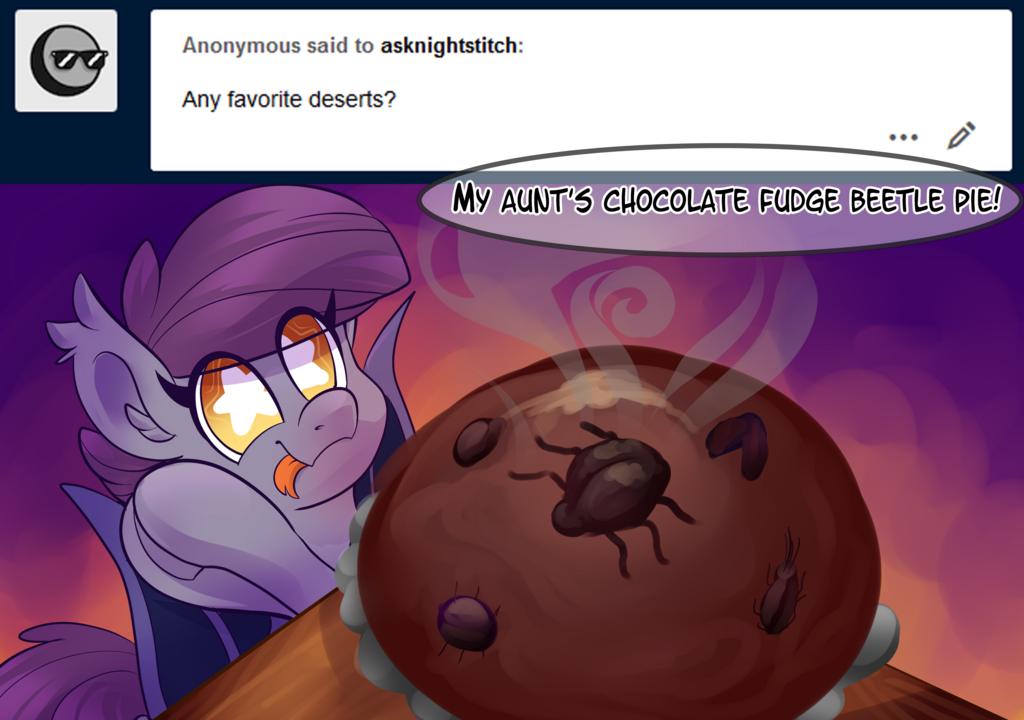 Most recent image: Ask Night Stitch: Dessert
