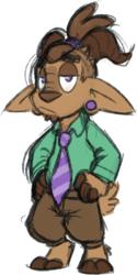 Goatmonster Glenn with a ponytail