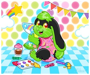 Artist Bunny Up And Coming - By MarinaNeira