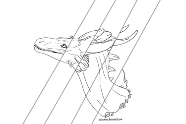 Dragon Line Art (for sale)