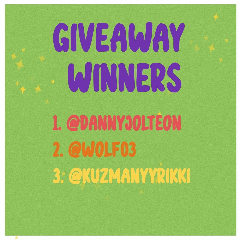 Giveaway winners
