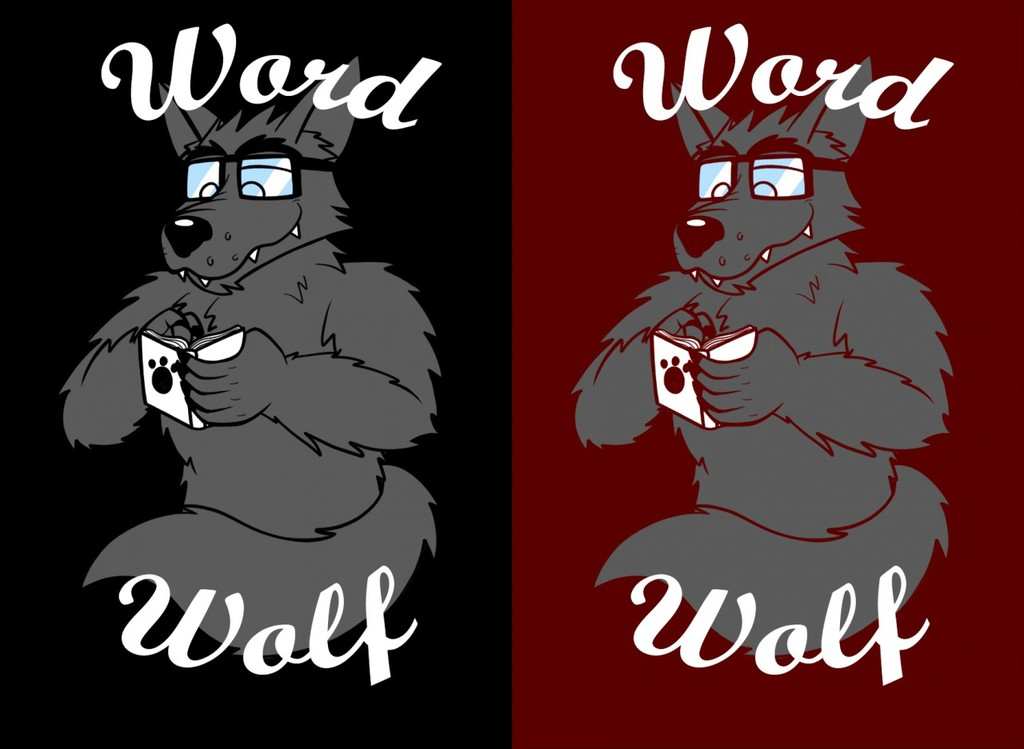 Most recent image: Word-wolf shirt design
