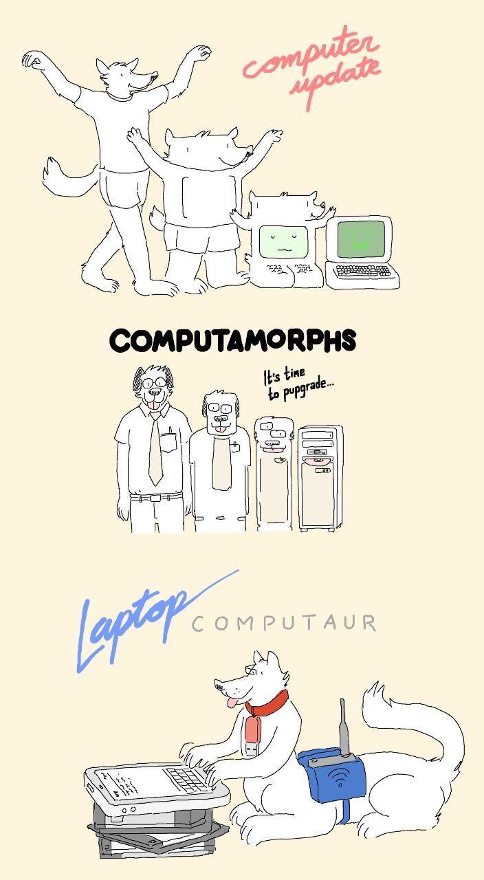 Laptop Computaur & Friends