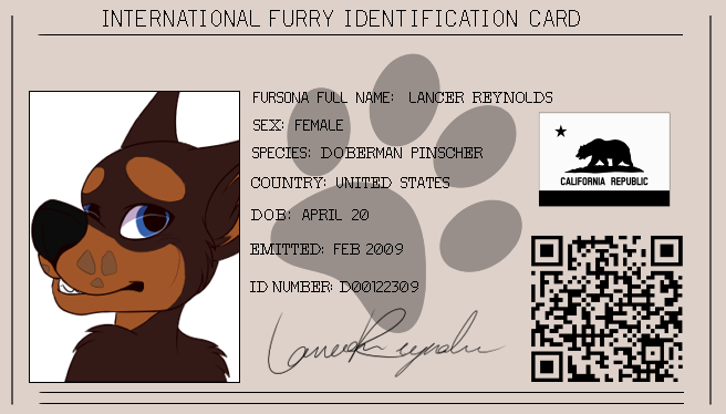 Most recent image: Lance ID Card