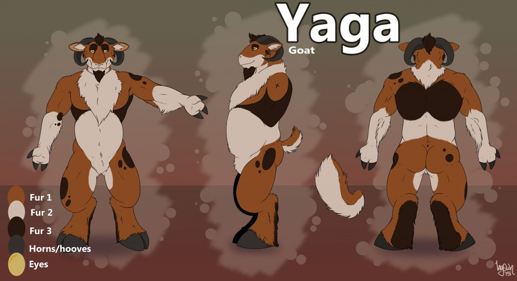 Reference sheet: YAGA, the goat [SFW]