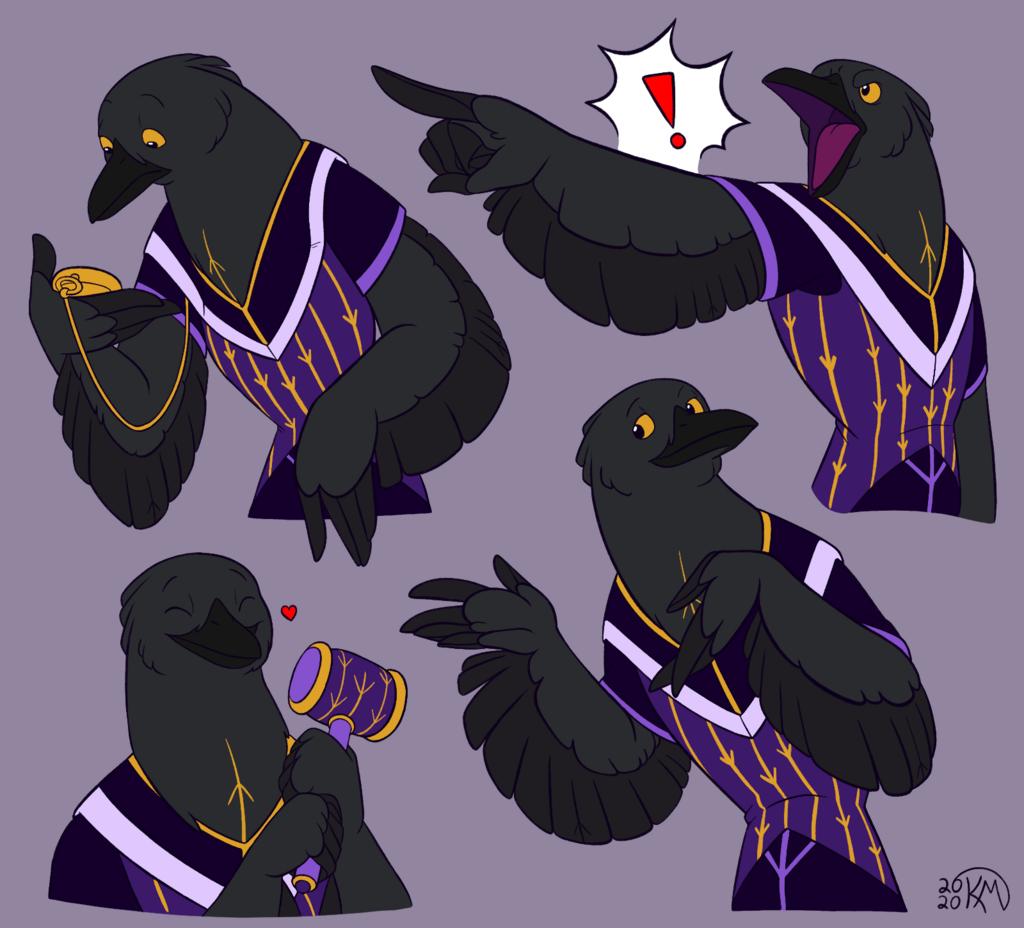 Corvus Half Poses