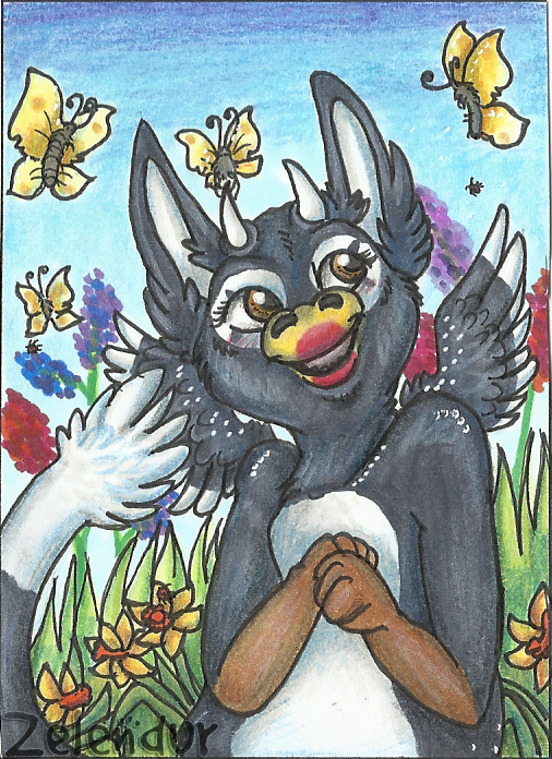 ACEO #33 Spring Fever