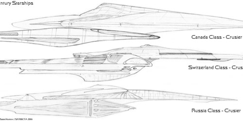 Late 25th Century Starship Designs